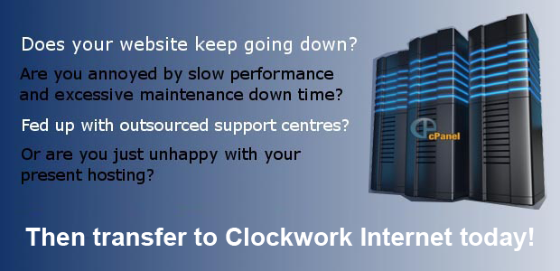 Clockwork Internet website hosting